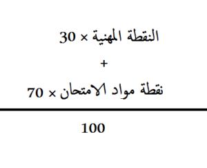 نتائج الامتحان المهني 2019